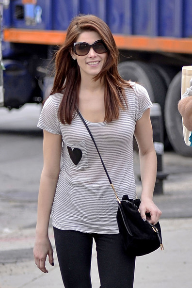 "Ashley Greene ""Twilight"" actress Ashley Greene is spotted out shopping with her dad Joe in Soho."