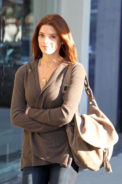 Ashley Greene tries to bundle up in her sweater while out and about in Beverly Hills on a windy afternoon. Greene has reportedly turned down an offer from Playboy to pose nude in the Men's magazine.