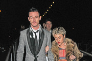 Jamie Winstone attending a BRIT Awards afterparty in London.