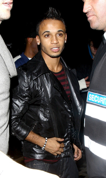 Aston Merrygold JLS singer Aston Merrygold makes his way through the crowds as he leaves the Whisky Mist nightclub in the early hours of the morning.