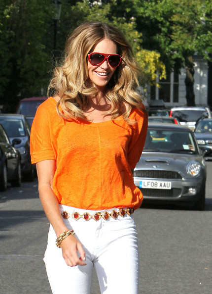 elle macpherson haircut. Elle MacPherson Out and About
