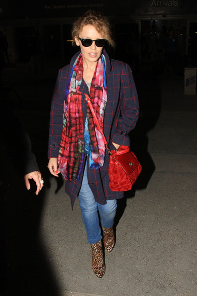 Saturday 16, 2013. Australian singer Kylie Minogue makes her way through LAX airport.