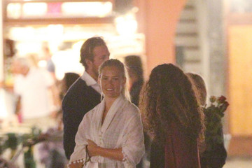 Afef Tronchetti Provera Bar Rafaeli, famous Israeli model, strolls throught the streets of Portofino in the Italian Riviera, eats at a restaurant and rides a scooter with friends