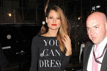 Behati Prinsloo Celebs Arrive at the Victoria's Secret Fashion Show After Party