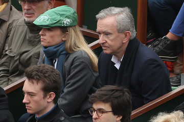 Bernard Arnault Celebs Watch the French Open in Paris