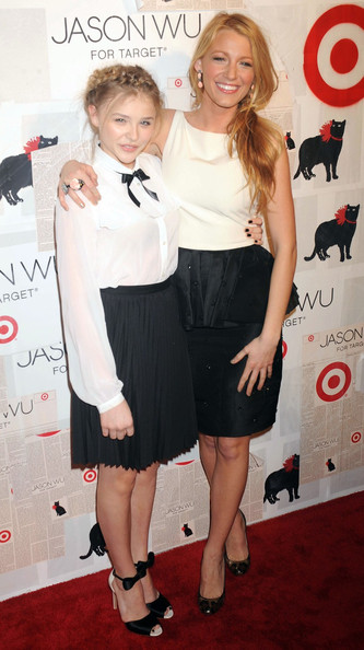 Blake Lively Thursday January 26, 2012.Chloe Moretz and Blake Lively attending the Jason Wu For Target launch at Skylight SOHO in New York City.