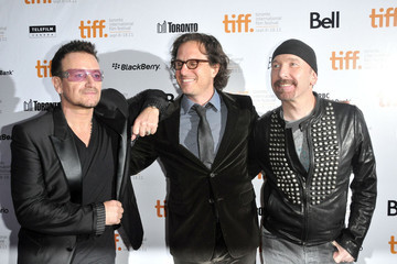 Davis Guggenheim The Edge Bono at the 'From the Sky Down' Premiere
