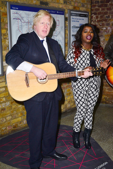 Boris Johnson Hangs Out With Young Musicians