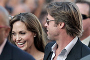 Brad Pitt and Angelina Jolie attend the Hollywood movie premiere of