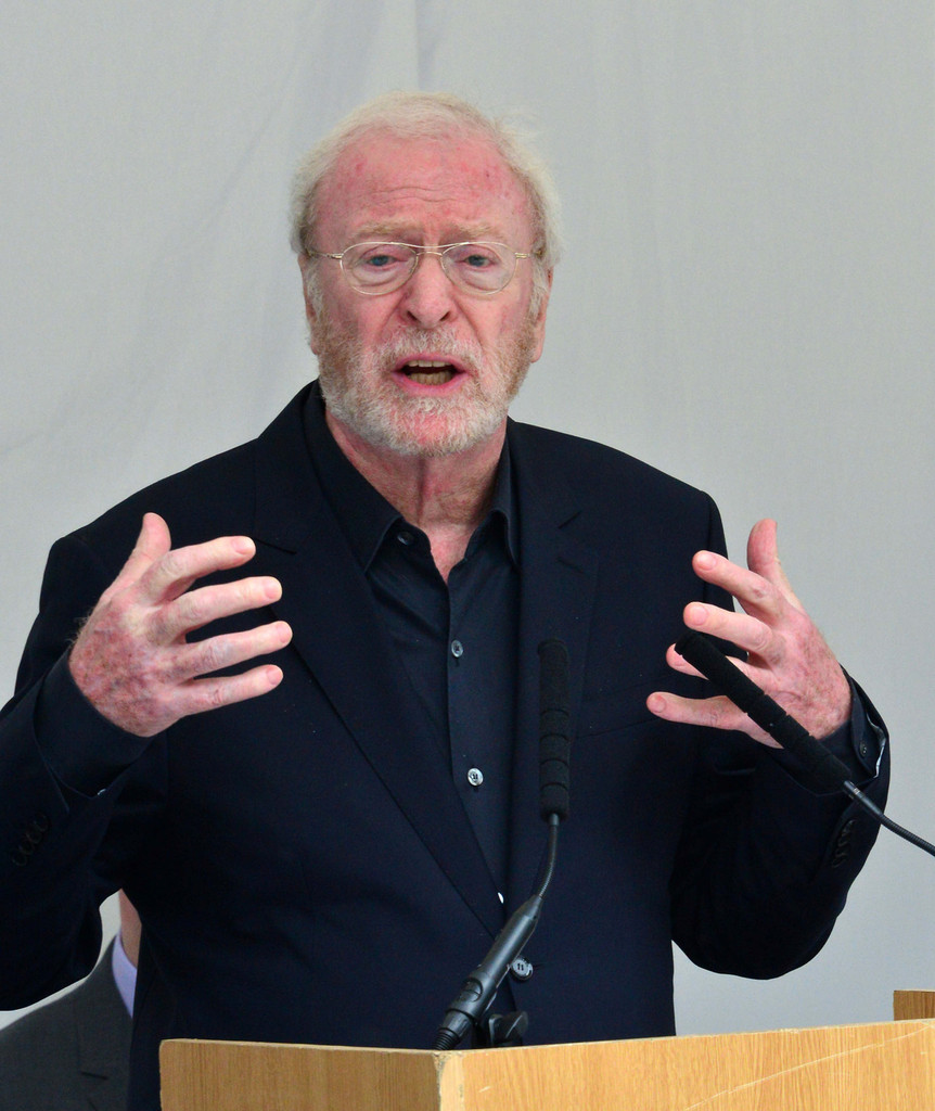 Michael Caine At A Memorial