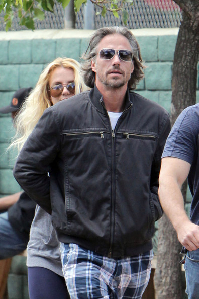 Britney Spears Jason Trawick and Britney Spears spend their Sunday at her son Sean Preston's little league baseball game. The couple was seen cozying up in the stands while watching Sean play ball.