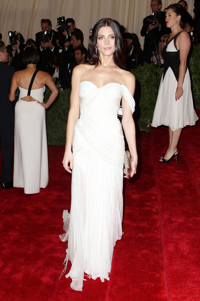 Ashley Greene walks the red carpet at the Met Gala at the Metropolitan Museum of Art in NYC.