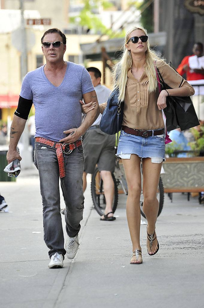 Mickey Rourke Anastassija Makarenko Anastassija Makarenko Photos Mickey Rourke And Girlfriend Out And About In Nyc Zimbio He donned the costume known as the gremlin and was infamous for revealing himself rather than being voted off by audience members.4. mickey rourke anastassija makarenko