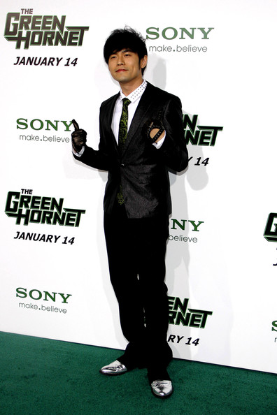 "Jay Chou at the Los Angeles premiere of ""The Green Hornet"" held at the Grauman's Chinese Theater, Los Angeles."