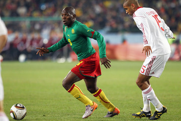 Geremi Cameroon v Denmark at the 2010 World Cup