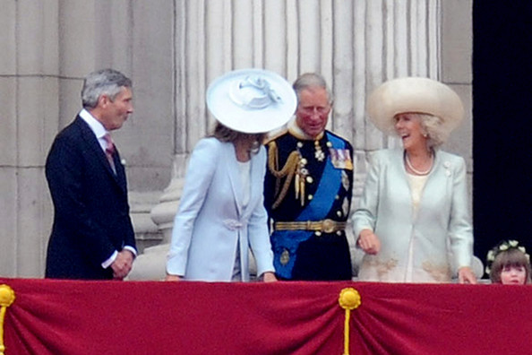 Camilla Parker Bowles Kate Middleton's parents Michael and Carole share a tender moment with HRH Prince Charles and Duchess of Cornwall Camilla Parker Bowles in support of the newly married Prince William and Kate Middleton. Thousands of supporters lined The Mall in London to congratulate the Royals as they travelled to Buckingham Palace.