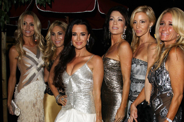 "Camille Grammer ""The Real Housewives of Beverly Hills"" cast glam up for their series party in West Hollywood..L to R: Taylor Armstrong, Adrienne Maloof, Kyle Richards, Lisa Vanderpump, Camille Grammer, Kim Richards."