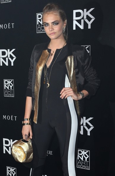 Cara Delevingne - Cara Delevingne at the DKNY Artworks Event