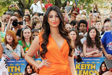 "Cara Kilbey Billi Mucklow at the London red carpet premiere of ""Keith Lemon: The Film"""