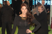 Lucy Pinder arrives for the Royal film premiere of 'The Hobbit: An Unexpected Journey', held at London's Leicester Square.**UK, IRELAND, DUBAI, USA AND CANADIAN USE ONLY** Photograph: ©  ZTimages.