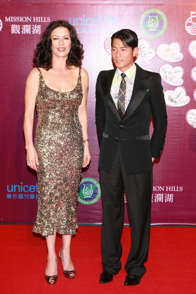 Catherine Zeta Jones October 29, 2010. Catherine Zeta-Jones and Hong Kong singer Aaron Kwok attend the Mission Hills Star Trophy Gala at Mission Hills Resort. Catherine's husband Michael Douglas agreed to participate in the tournament, before being diagnosed with throat cancer. The Mission Hills Star Trophy is Asia's celebrity golf pro-am tournament, being held from 28 to 31 October, 2010, to promote the tourism of Hainan district.