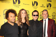 Director Harold Trompetero, Actress Karen Martinez(wife of famous Colombian musician Juanes) and Actor John Leguizamo at the premiere of 'The Trip 2' at the Miami Film Festival in Miami Beach.
