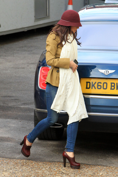 "Cheryl Cole Cheryl Cole arrives at Fountain Studios ahead of tonight's ""X-Factor"" live final."