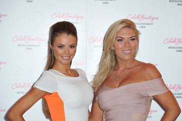 Chloe Sims Frankie Essex Celebs at the CelebBoutique Store Launch