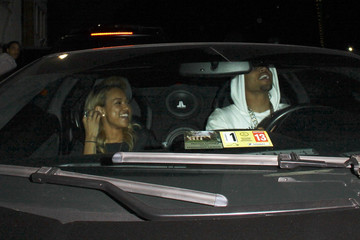 Chris Brown Karrueche Tran Chris Brown and Girlfriend Out in Hollywood