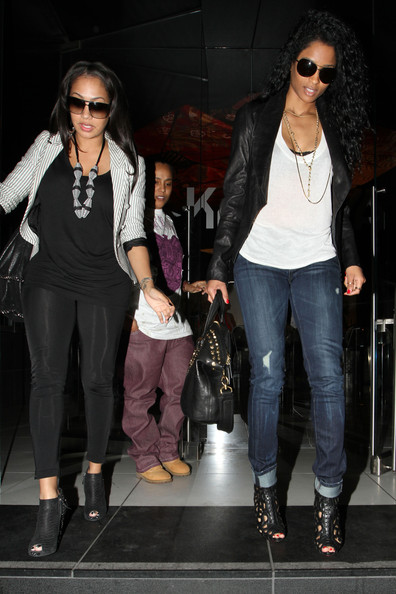 La La Anthony and Ciara - Ciara and Lala Vasquez Outside Katsuya ...