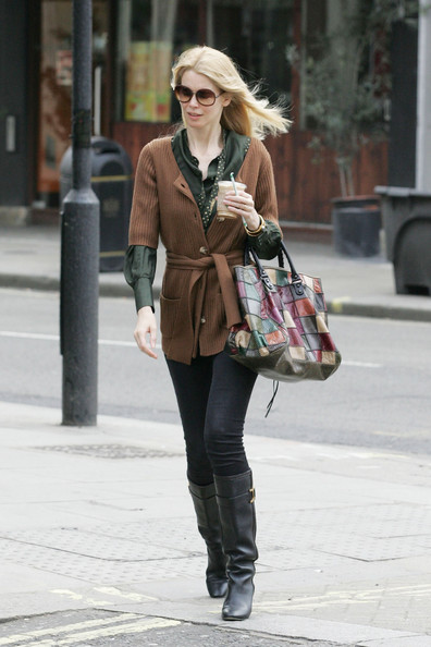 Claudia Schiffer Former supermodel Claudia Schiffer picks up her morning iced beverage after doing the school run in Notting Hill.