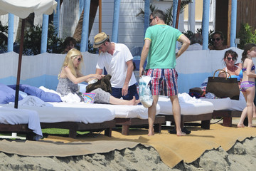 Claudia Schiffer Claudia Schiffer and Family Relax in Costa del Sol