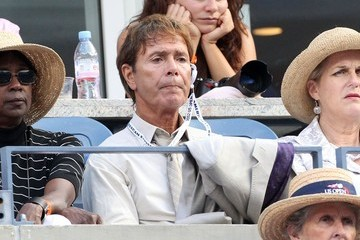 Cliff Richard Eva Longoria cheers for Serena Williams from her player's box during the US Open