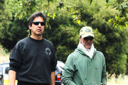 Comedian Ray Romano and a friend go out for a walk in Studio City before picking up lunch together