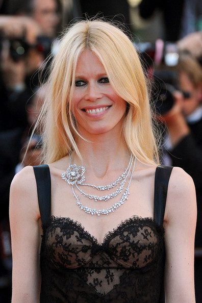 "Claudia Schiffer attends a screening of ""This Must be the Place"" at the Cannes Film Festival."