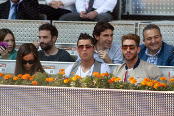 Cristiano Ronaldo Celebs Watch a Tennis Match in Madrid