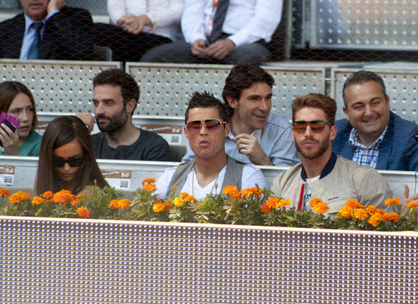 Celebs Watch a Tennis Match in Madrid