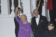 Duke and Duchess of Kent attend a gala pre-wedding dinner held at the Mandarin Oriental Hyde Park .