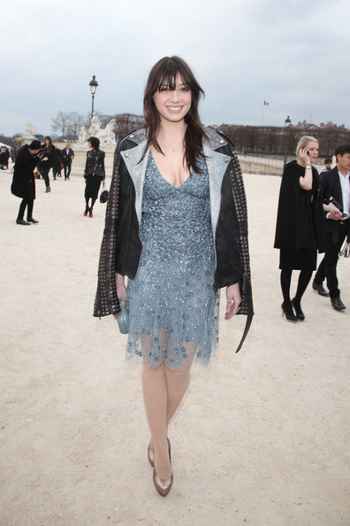 Daisy Lowe looks stunning as she arrives at the Elie Saab fashion show during Paris Fashion Week.
