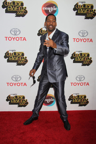 Tony Rock on the red carpet for the 2012 Soul Train Awards at the Planet Hollywood Resort & Casino in Las Vegas.