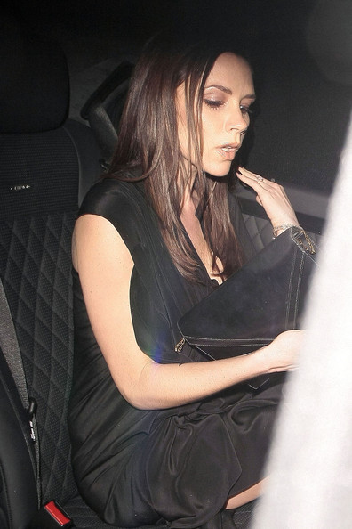 victoria beckham pregnant pictures. David and Victoria Beckham in