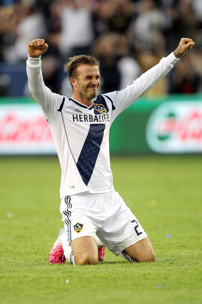 david beckham in david beckham celebrates his last game