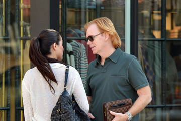 David Caruso David Caruso Grabs a Meal in Miami