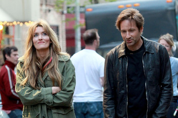 "David Duchovny Natascha McElhone David Duchovny Films ""Californication"" in the West Village"