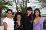 """Deborah Mailman, Miranda Tapsell, Shari Sebbens, and Jessica Mauboy at a photocall for """"The Sapphires"""" at the Cannes Film Festival 2012."""