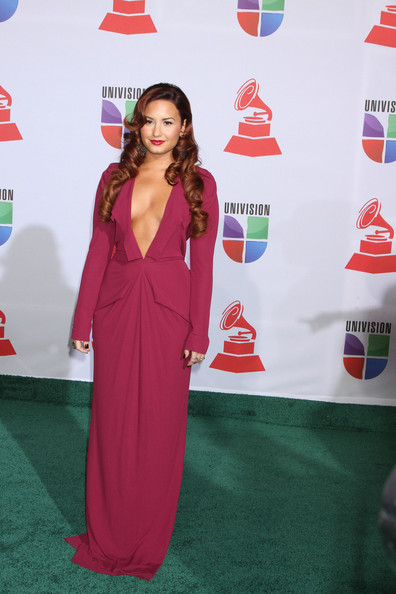 Demi Lovato Demi Lovato attends the 2011 Latin Grammy Awards at the Mandalay Bay in Las Vegas.