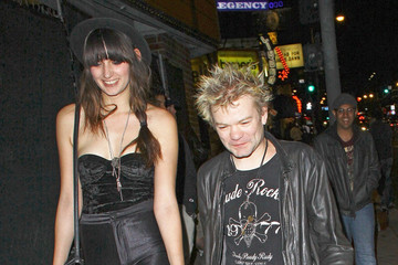 Deryck Whibley Deryck Whibley leaving the Viper Room with his girlfriend Jocelyn Aguilar after attending the launch party of his ex-wife Avril Lavigne's clothing line Abbey Dawn