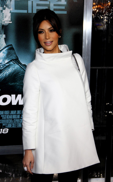 "Kim Kardashian at the Los Angeles premiere of ""Unknown"" held at the Regency Village Theatre, Los Angeles."