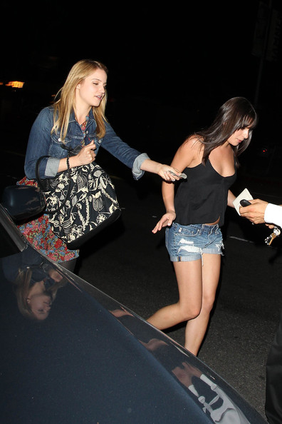 Dianna Agron Pictures Dianna Agron And Lea Michele Leave