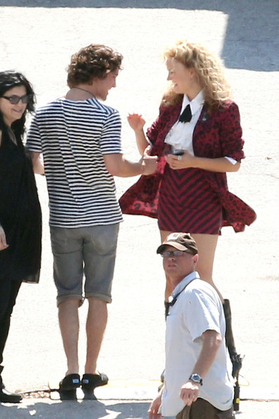 "Diego Boneta flirts with Malin Akerman on the set of ""Rock of Ages"", shooting in sunny Florida."